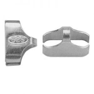 Zakończenie do bransoletki lub łańcuszka*srebro AG 925*FBR 10x7,6 mm