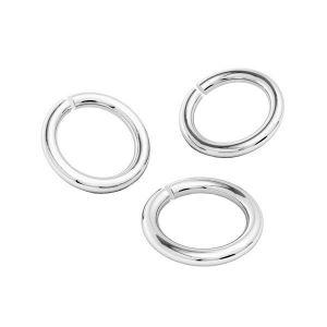 Kółko cięte*srebro AG 925*KC 0,8x3 mm