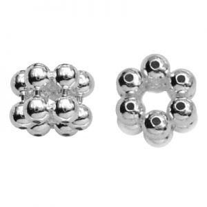 Przekładka - kwiatek z kulek*srebro AG 925*KW 2 5x3,65 mm