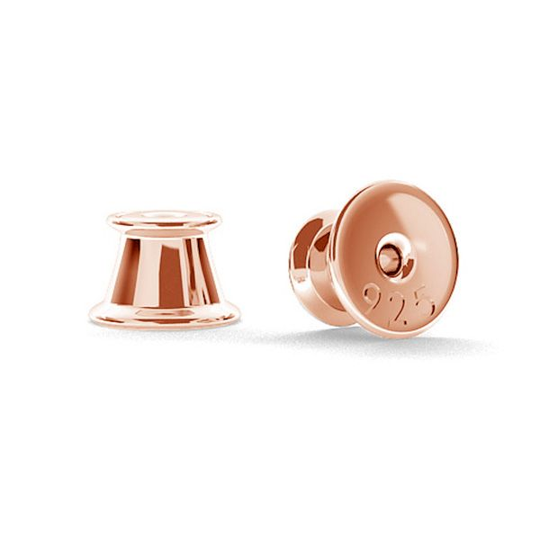 Zapięcie do kolczyków - typu silikon*srebro AG 925*SL 1 4,05x5,3 mm