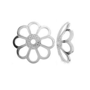 WKA  6,0 mm - Przekładka połówka, kwiatek ze srebra 925