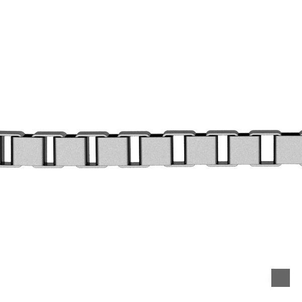 Łańcuszek metraż - typu Kostka*srebro AG 925*KV 015 4L 0,8 mm