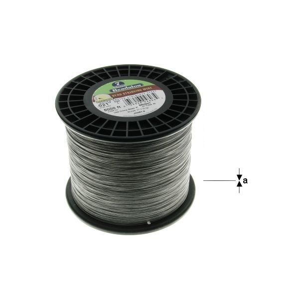 "7STRD WIRE .024"" BLACK 5000' (0.61 mm, 1525 m)"