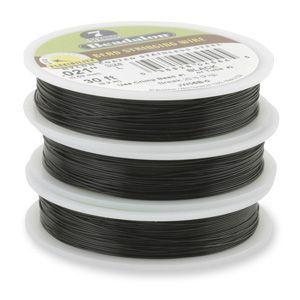 7STRD WIRE .015 BLACK 30 (0.38 mm, 9.2 m)