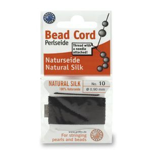 SILKTHREAD 10 - BLACK (0.90 mm, 2.0 m)