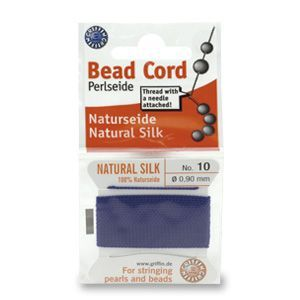 SILKTHREAD 10 - DARK BLUE (0.90 mm, 2.0 m)
