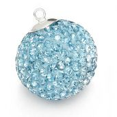 DISCOBALL AQUAMARINE 20 MM
