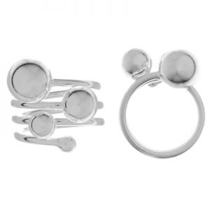 Pierścionek spiralny z kulkami*srebro AG 925*RING 01001 4x10 mm