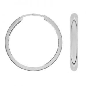 Kolczyk koło - typu oponka*srebro AG 925*KL-50 4,5x25 mm