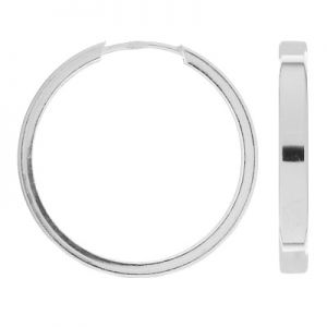 Kolczyk koło - typu rynienka*srebro AG 925*KLP-10 3,6x28 mm
