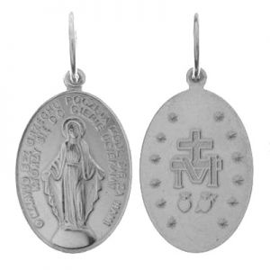 Medalik - Matka Boska Niepokalana*srebro AG 925*PENDANT W-56 16,5x30 mm