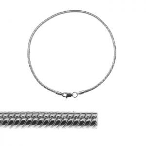 Bransoleta łańcuszkowa - typu Snake*srebro AG 925*SN 050 - CHARMS PANDA 19 cm
