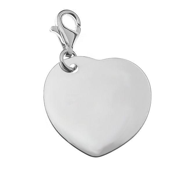 Srebrny charms, serce, CHARMS - Element Engrave 4