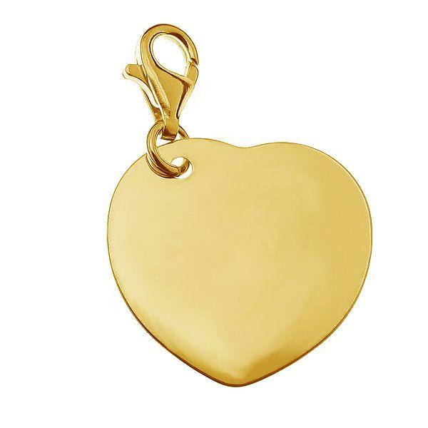 Srebrny charms serce, CHARMS - Element Engrave 4