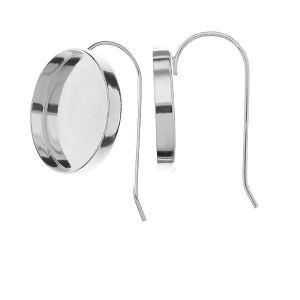 Bigiel otwarty - okrągła miseczka do żywicy*srebro AG 925*BO FMG 18 mm