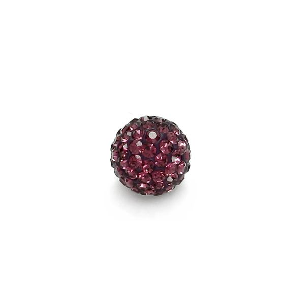 DISCOBALL 1 HOLE AMETHYST 6 MM