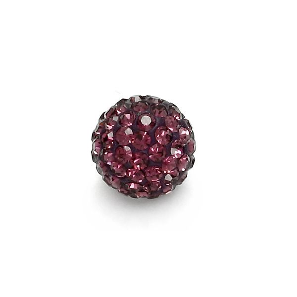 DISCOBALL 1 HOLE AMETHYST 8 MM