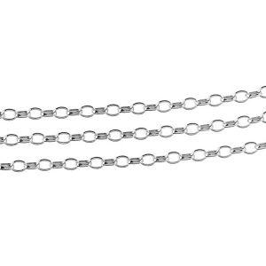 Srebrny łańcuszek w metrażu, ROLO OVAL 0,35X0,60