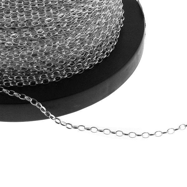 Łańcuszek metraż - typu Rolo*srebro AG 925*ROLO OVAL 0,4x0,9 mm