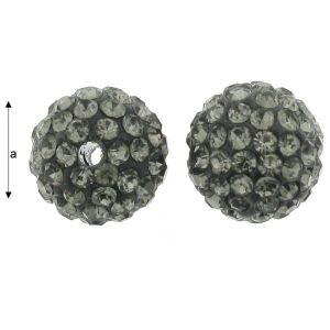DISCOBALL BEAD BLACK DIAMOND 10 MM