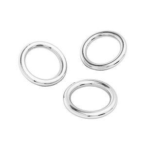 Kółko zlutowane*srebro AG 925*KCZ 0,8x3 mm