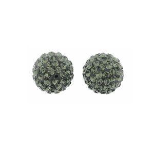 Koralik z jednym otworem - Discoball w wersji Black Diamond*DSC-B 1 HOLE 8 mm