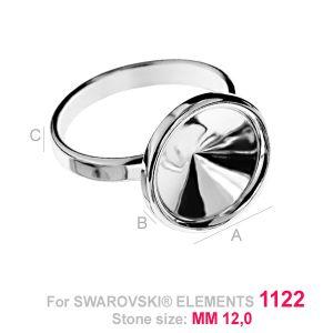 Pierścionek baza do Rivoli - OKSV 1122 12MM S-RING ver.2