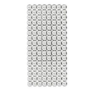 40001/008 012 001 - Crystal Mesh Standard 8 rzędów, Crystal