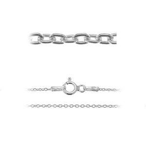 Łańcuszek typu Ankier z zamkiem*srebro AG 925*A 030 38-70 cm