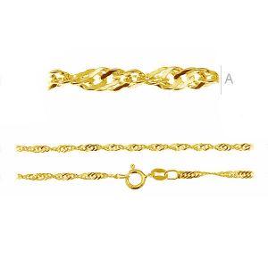Singapur łańcuiszek złocony lub rodowany S 35 (45-55 cm) RH/AU