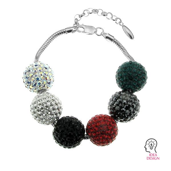 DISCOBALL BEAD 16mm/4.5 mm CRYSTAL