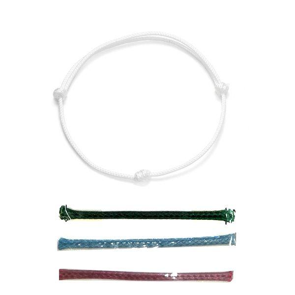Bransoletka sznurkowa - regulowana - różne kolory*BRACELET CORD 1.4 12-21 cm