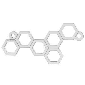 Zawieszka plaster miodu, srebro 925, LK-0348 - 0,50