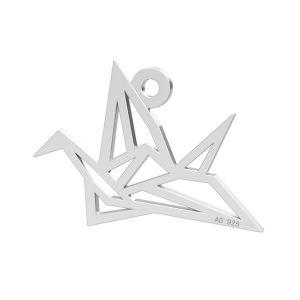 Zawieszka origami ptak, ze srebra próby 925, LK-0364 - 0,50
