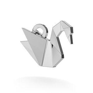 Zawieszka - łabędź origami*srebro AG 925*ODL-00031 10x10,5 mm
