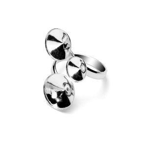 Pierścionek spiralny - baza do Rivoli*srebro AG 925*T-RING OKSV 1122 ver.3 8x10x12 mm