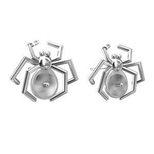 Kolczyk sztyft - pająk - baza do Swarovskiego*srebro AG 925*KLS ODL-00055 12x14 mm (5817 MM 6)