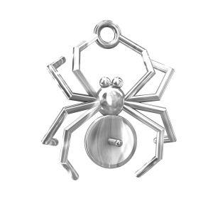 Zawieszka ze sztyftem - duży pająk - baza do Swarovskiego*srebro AG 925*ODL-00056 14,5x18,5 mm (5817 MM 8)