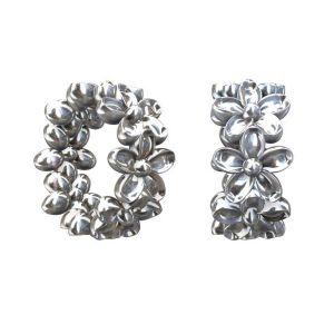 Przekładka okrągła - kwiatki*srebro AG 925*ODL-00065 3,3x7,4 mm