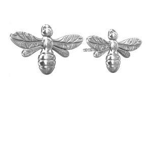 Kolczyk sztyft - pszczoła*srebro AG 925*KLS ODL-00081 6,2x10 mm