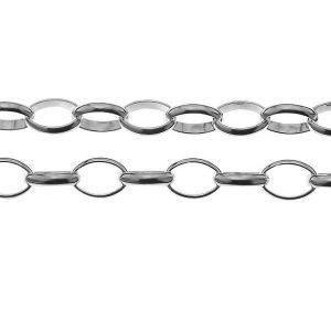 Łańcuszek metraż - typu Rolo*srebro AG 925*ROLO OVAL 150 5x7 mm
