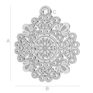 Ażurowa blaszka rozeta - LK-0562 - 0,50
