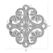 Blaszka ozdobna rozeta - LK-0564 - 0,50