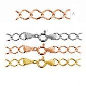 Złocona lub rodowana bransoletka, splot rombo - RD1 100 (19-22 cm) - złocony lub rodowany