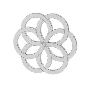 Dekoracyjna zawieszka rozeta, srebro 925, LK-0021 - 10MM