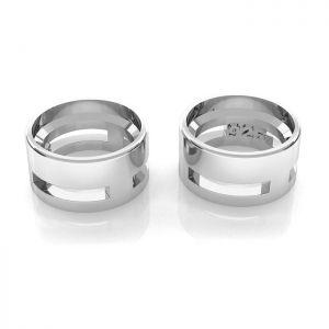 Koszyk do zakuwania - baza dla okrągłej cyrkonii*srebro AG 925*ODL-00110 3,6x6,4 mm