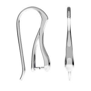 Bigiel otwarty - zaciskany*srebro AG 925*BO 60 3x23 mm