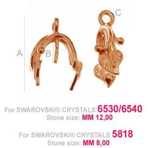 Krawat liście - ODL-00115 (6530 / 6540)