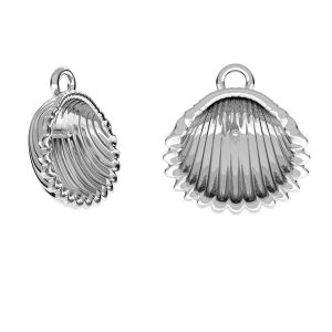 Zawieszka - muszelka - baza do pereł*srebro AG 925*ODL-00127 12x13 mm