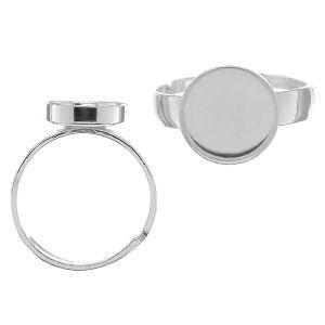 Pierścionek uniwersalny - okrągła miseczka do żywicy*srebro AG 925*U-RING FMG-R - 2,60 10 mm